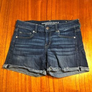 American Eagle super stretch rolled jean shorts